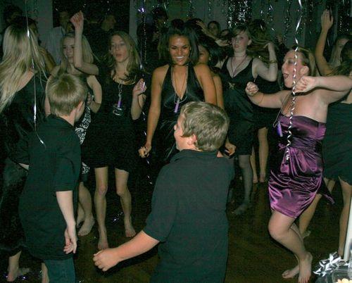 Bouncers dancing