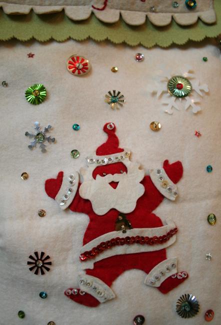 Dugs stocking santa