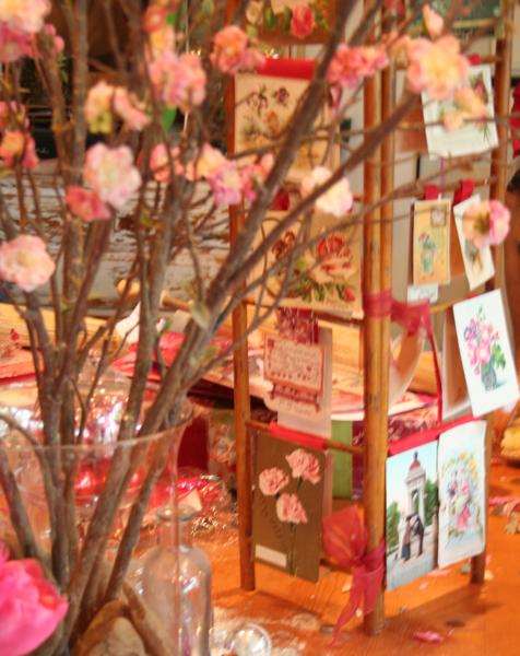 Valentine table display