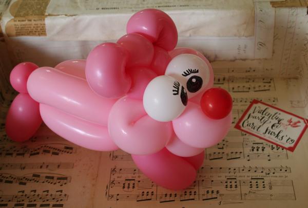 Valentine baloon doggie