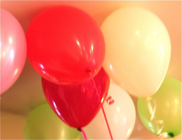 Valentine balloons fuzzy