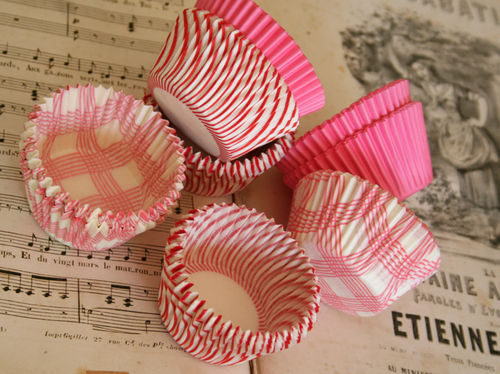Pink muffin cups