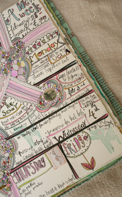 Journaling calendar page 3