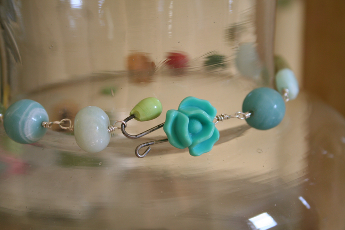 Bead necklace clasp