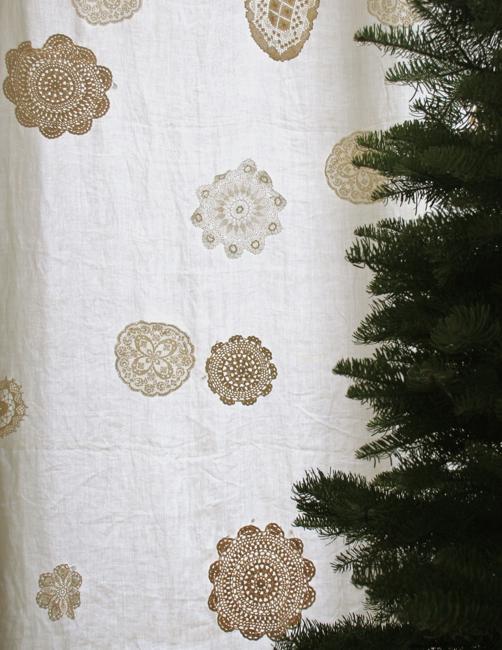 Snowflake curtain close up 2