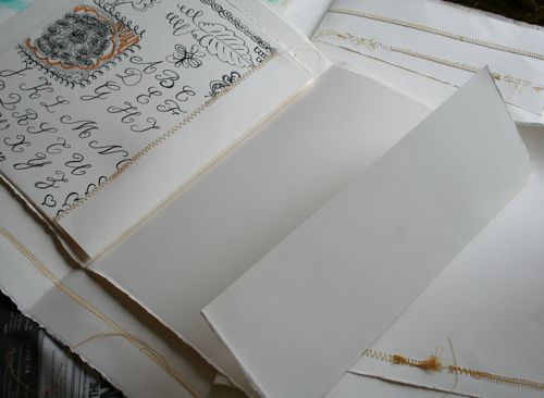 Journal pages made from scraps