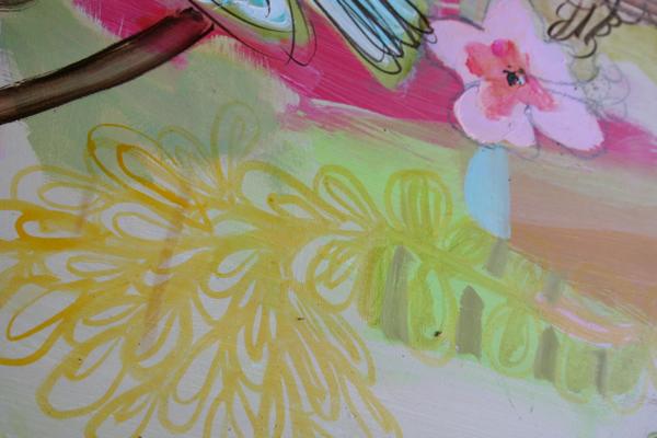 Bird painting close up