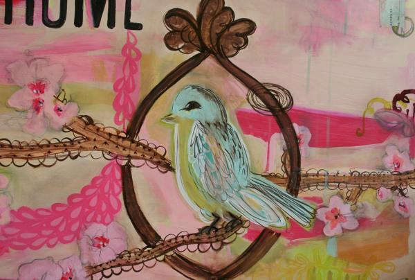 Bird painting 2x4