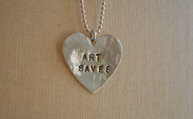 Art saves necklace