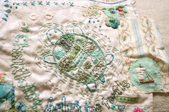 Summer stitching turtle 2