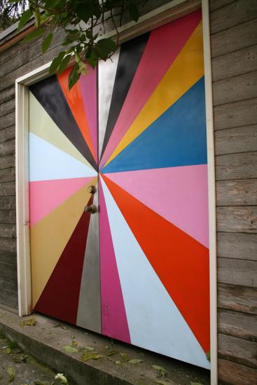 Pinwheel garage