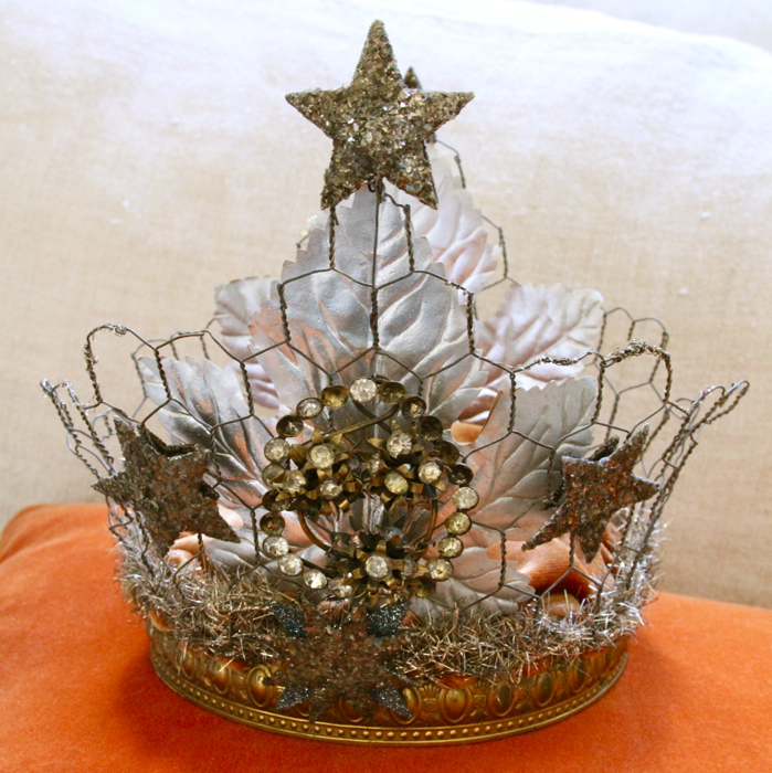 French brocante crown