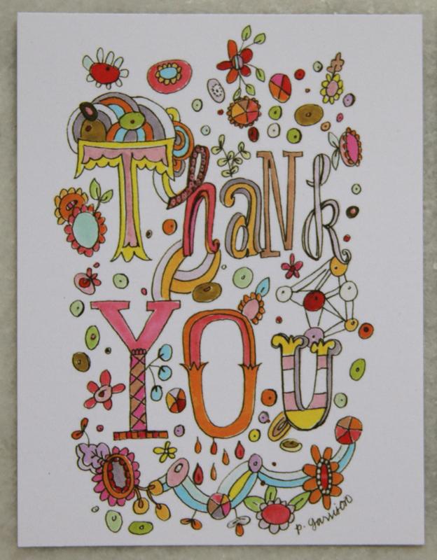 Thank you postcard e
