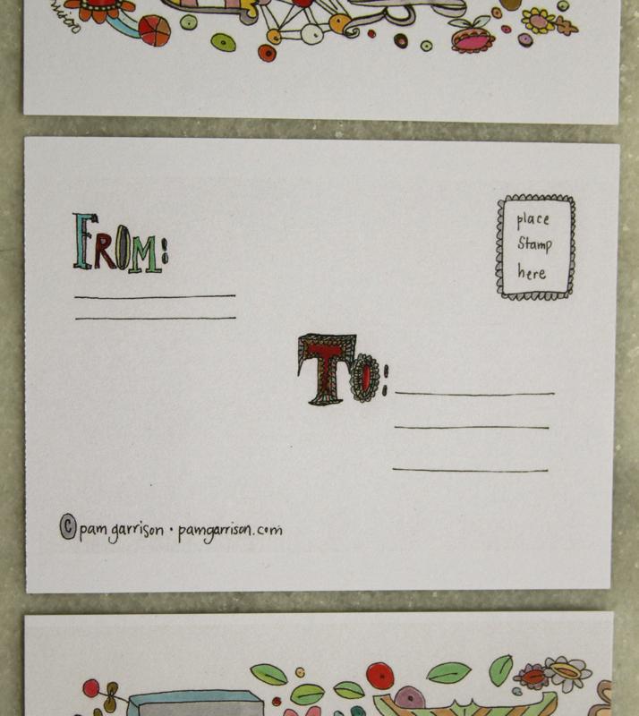 Thanks:hugs postcard back e