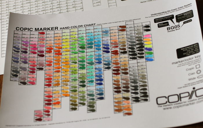 Copic hand color chart full