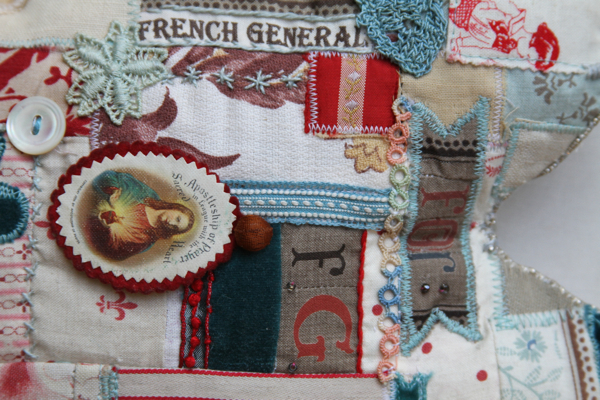 French general fabric heart