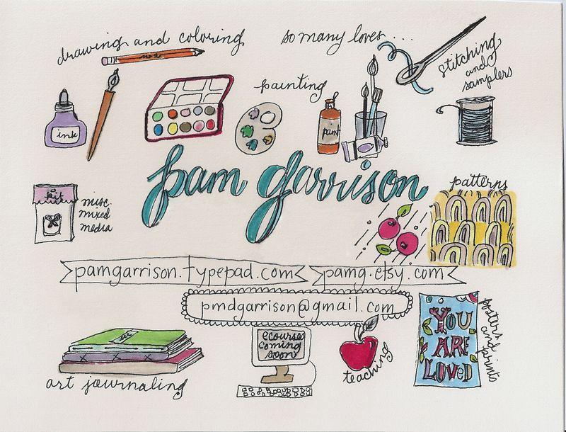 Pam garrison postcard back