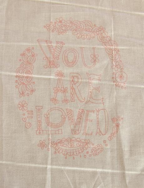 You are loved pink sampler 1