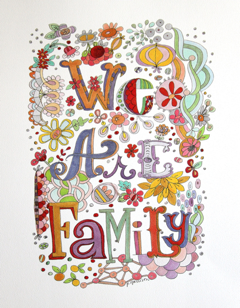 We are family for etsy