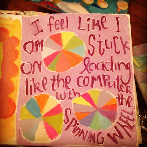 painted journal page