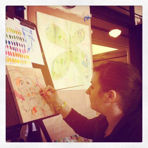 Jennifer painting