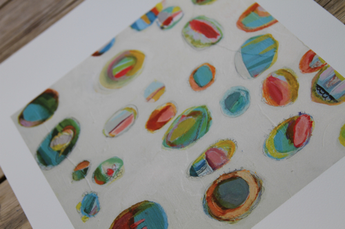 pam garrison painting, circles, abstract circle painting