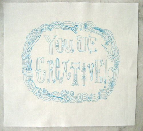 You are creative embroidery