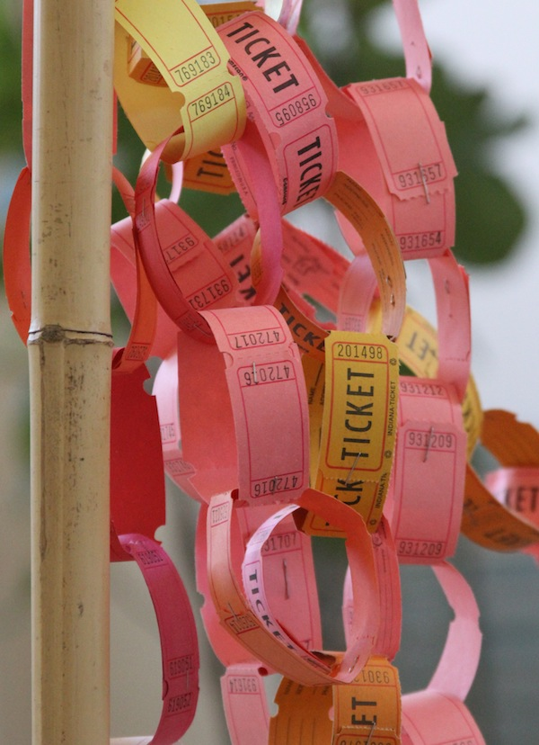 paper chains,tickets