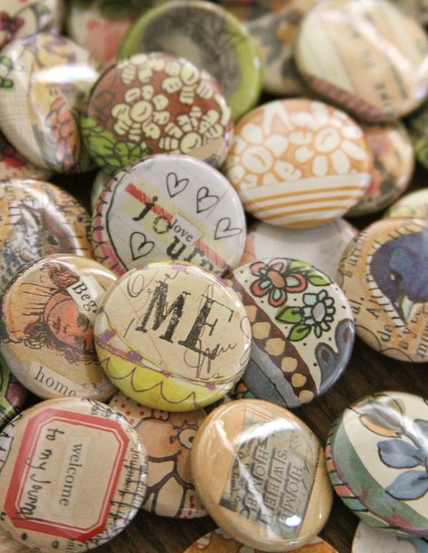"""1"""" art buttons/pins"""