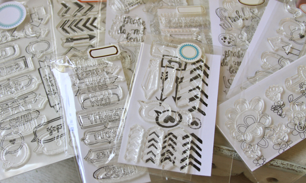 Clear stamp collection