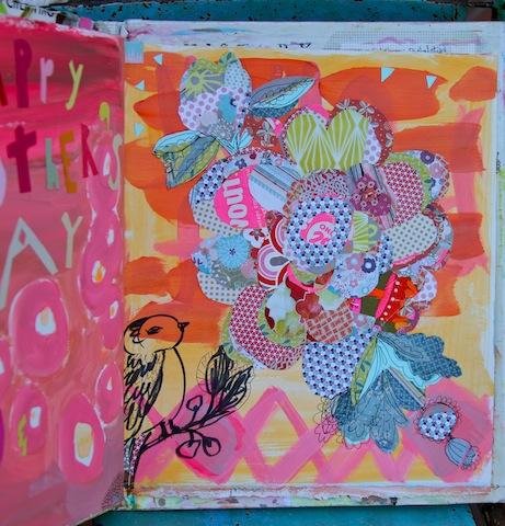 journaling,paper collage