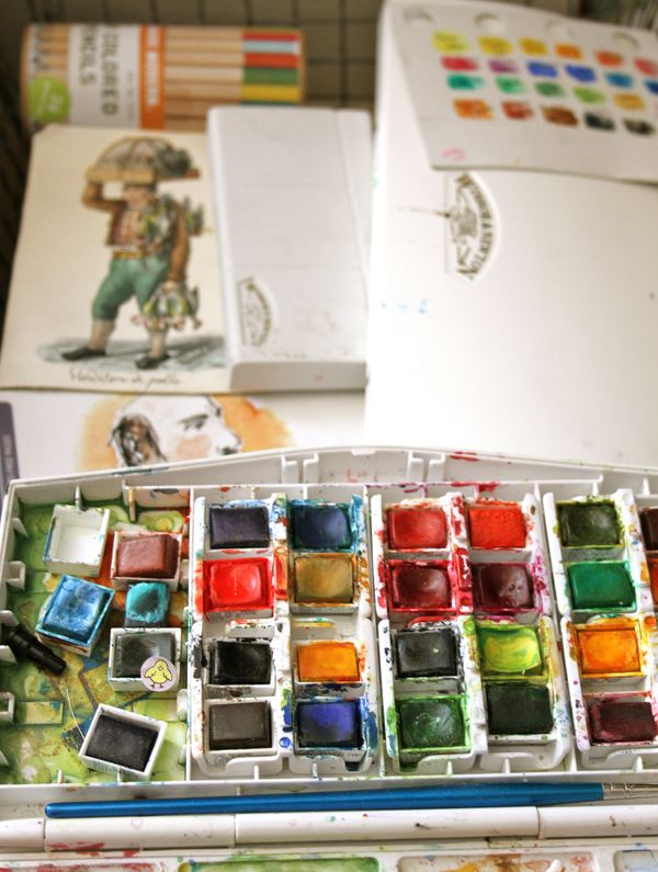 watercolors,watercolor paints,travel watercolors
