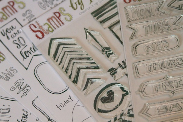 clear stamps,day of the week stamps