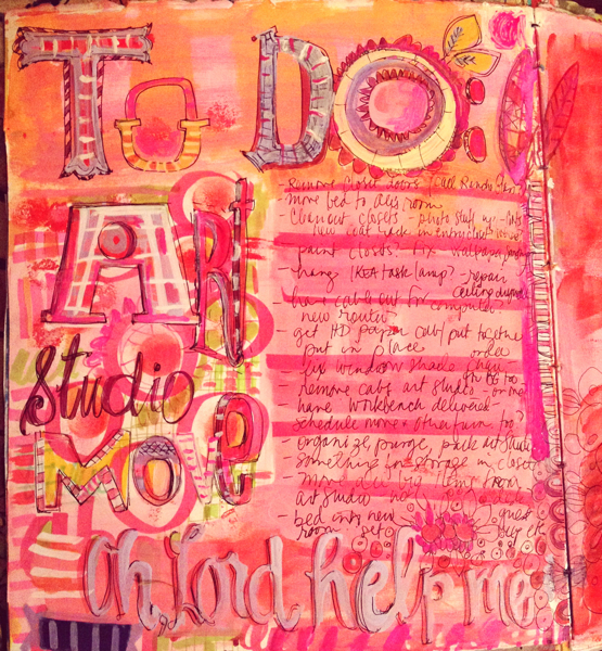 Journal page to do moving studio