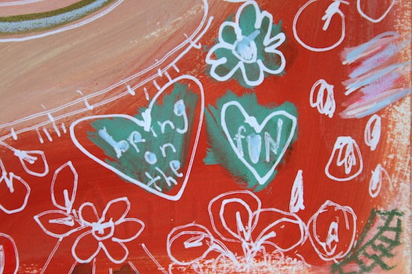 hearts,art journal