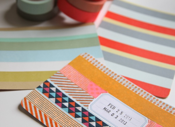 washi tape for project life