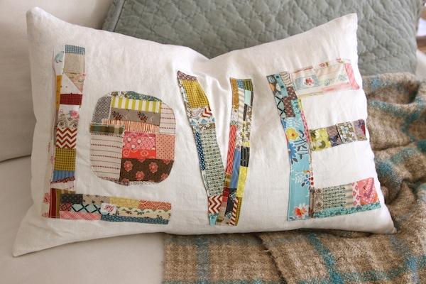 pam garrison patchwork pillow