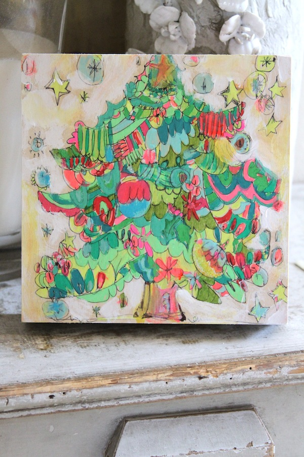 christmas tree,pam garrison painting