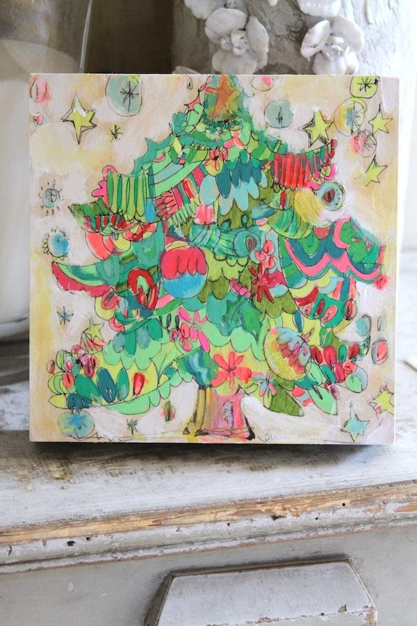 christmas tree,pam garrison painting