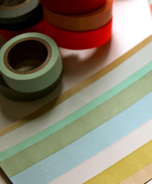 washi tape stripes