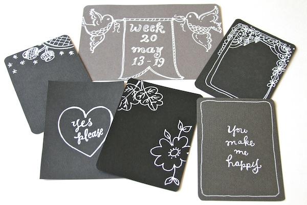 Garrison journal cards bw