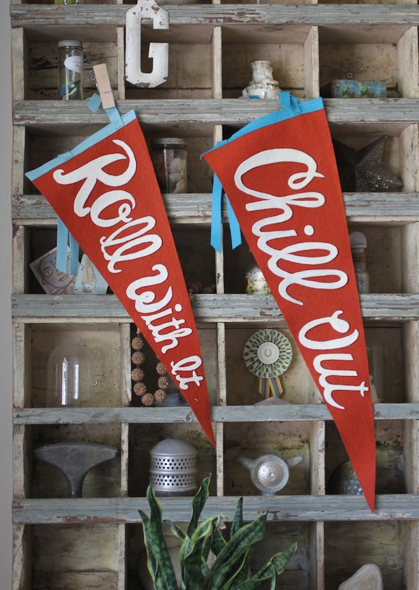 Pam Garrison's summer mantra pennants
