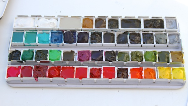 Messy making a palette