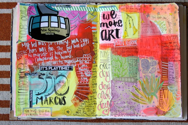 PG current art journaling