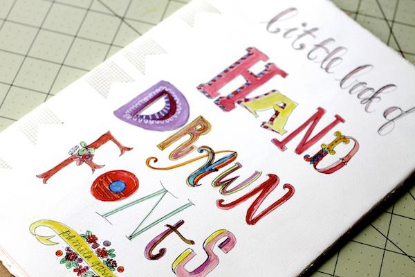 PG_hand drawn font book