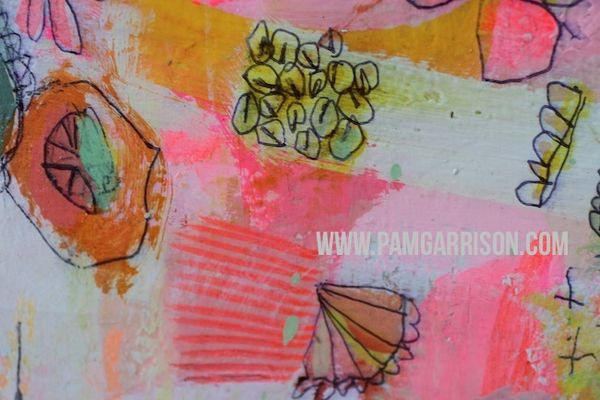 Pam garrison painting in progress 8:14 9