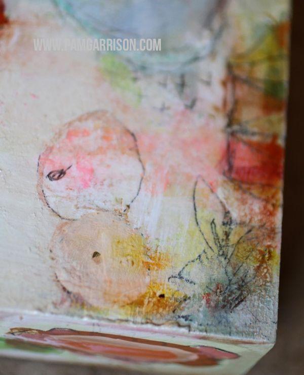 Pam garrison painting in progress 8:14 22
