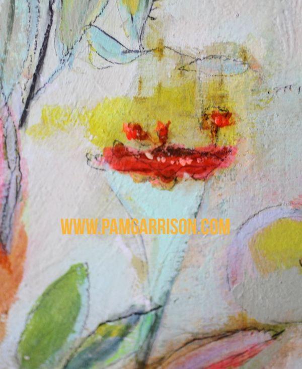 Pam garrison painting in progress 8:14 30