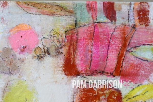 Pam Garrison Softly Blooming painting2