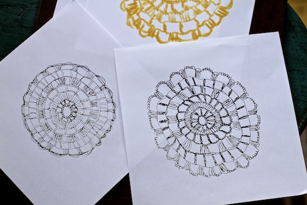Drawn doilies for LS